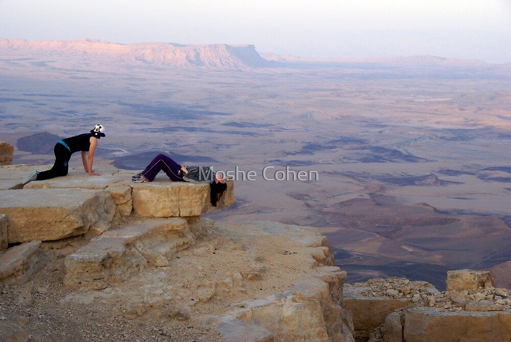 On the edge by Moshe Cohen