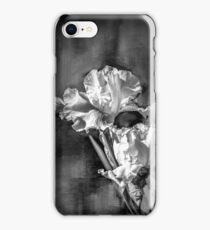 White Iris On Abstract Background iPhone Case/Skin