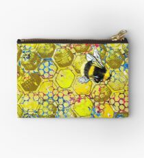 Bumble and Honey Zipper Pouch