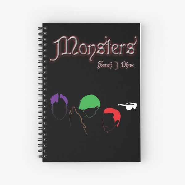 Monsters cover Spiral Notebook