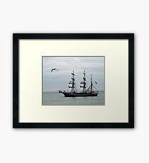 Belem French Training Ship At  Lyme.Dorset.UK  Framed Print