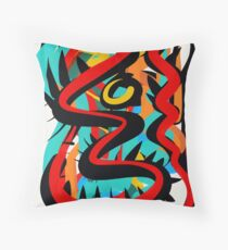 Abstract Life Force Art Throw Pillow