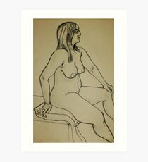 Proud Female Nude (Ink)- Art Print