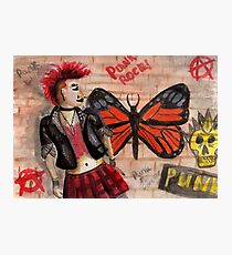 Punk graffiti Photographic Print