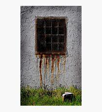 Rusty window Photographic Print