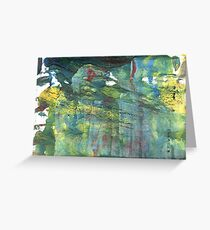 Oxley abstract watercolor background Greeting Card