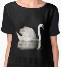 White mute swan portrait Chiffon Top