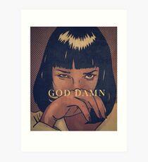 Pulp Fiction - Mia Wallace Art Print