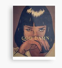 Pulp Fiction - Mia Wallace Metalldruck