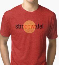 Stroopwafel (Dutch Waffle) Tri-blend T-Shirt