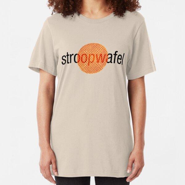 Stroopwafel (Dutch Waffle) Slim Fit T-Shirt