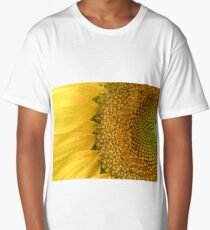 Sunflower texture and background. Texture of sunflower pollen Long T-Shirt