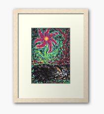 1313 - A Tigers Paw with a Magic Flower Gerahmtes Wandbild