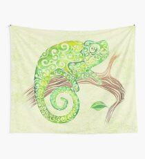 Swirly Chameleon Wall Tapestry