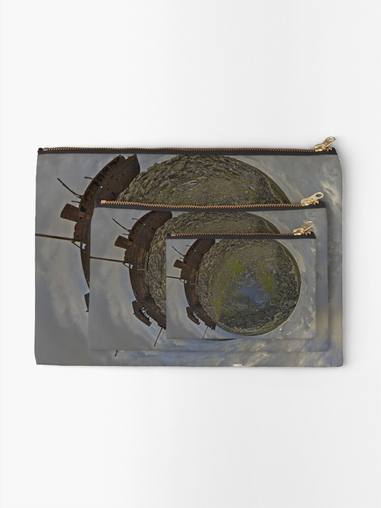 Alternate view of The Plassey Wreck,  Inisheer Zipper Pouch