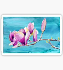 Magnolias painting in alcohol inks Sticker