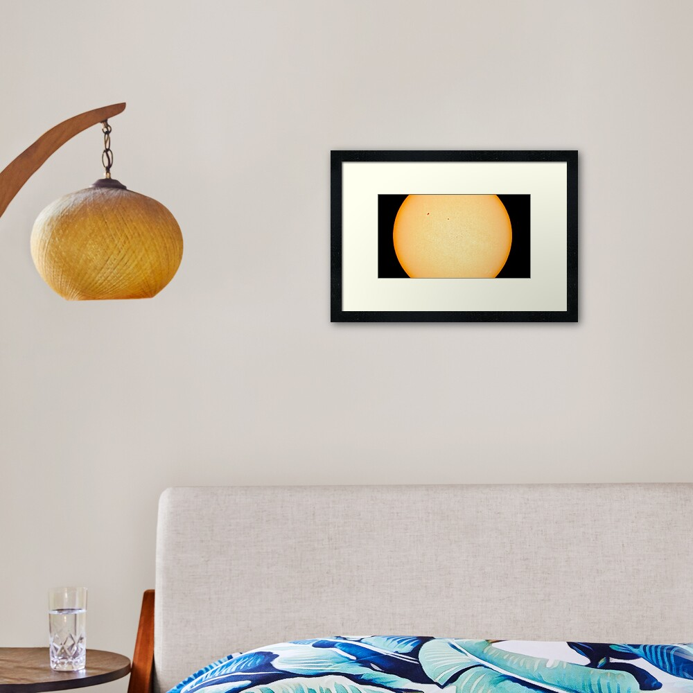 SUN photosphere Framed Art Print