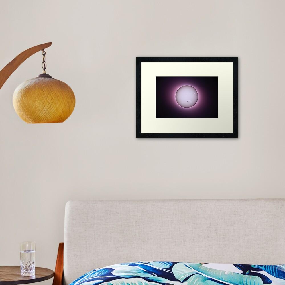 SUN Halo - White Light Framed Art Print