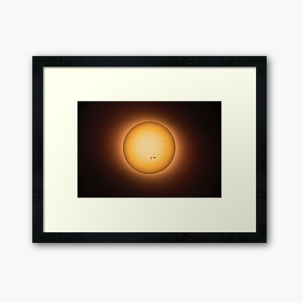 SUN Halo - Warm Light Framed Art Print