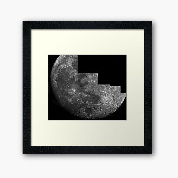 Moon mosaic Framed Art Print