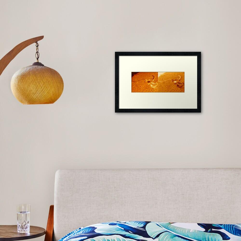 Sunspot heart shaped AR2529 Framed Art Print