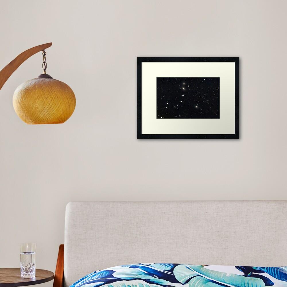 Virgo Galaxies Cluster Framed Art Print