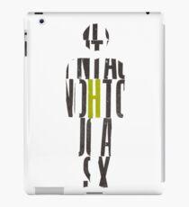 Letterpress MAN iPad Case/Skin