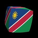 Namibia Flag cubed. by stuwdamdorp