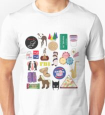 Parks and Rec Flatlay Unisex T-Shirt