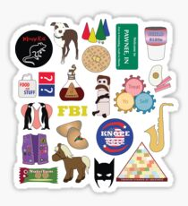Parks and Rec Flatlay Sticker