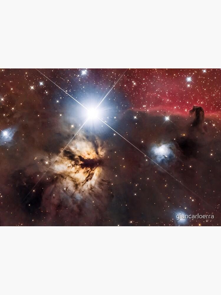 Flame Nebula + Horsehead by giancarloerra