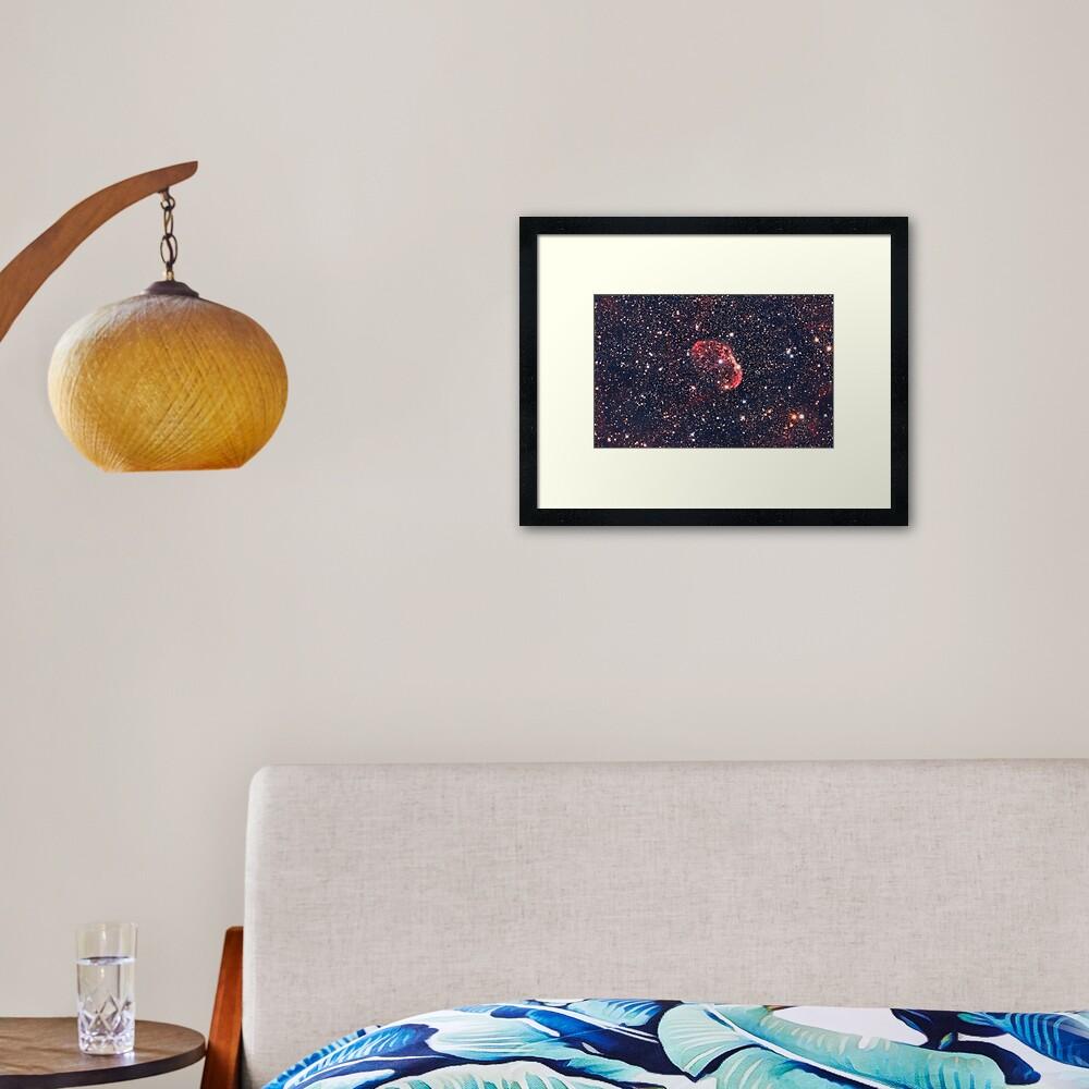 Crescent Nebula Framed Art Print