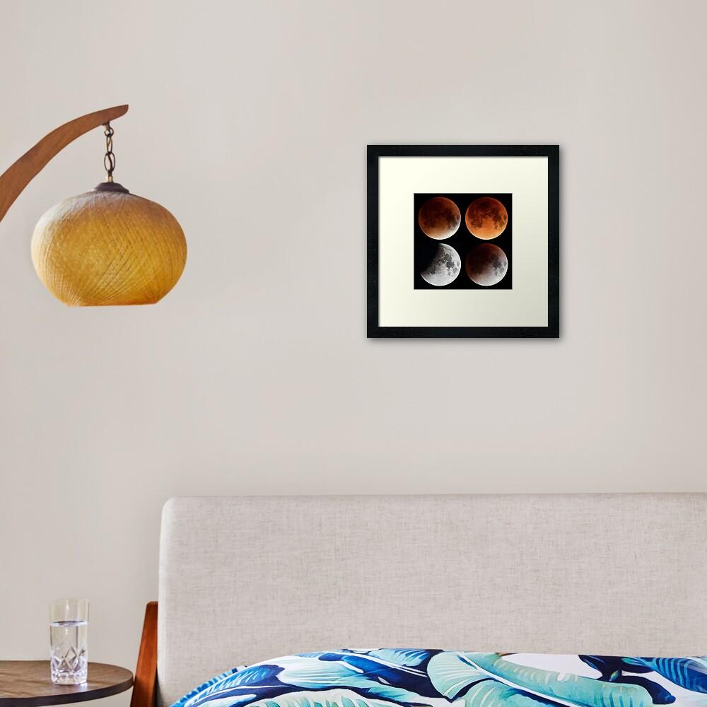 Moon Eclipse 2015 Mosaic Framed Art Print