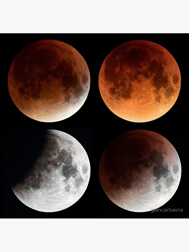 Moon Eclipse 2015 Mosaic by giancarloerra