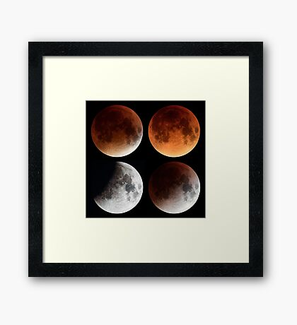 Moon Eclipse 2015 Mosaic Framed Print