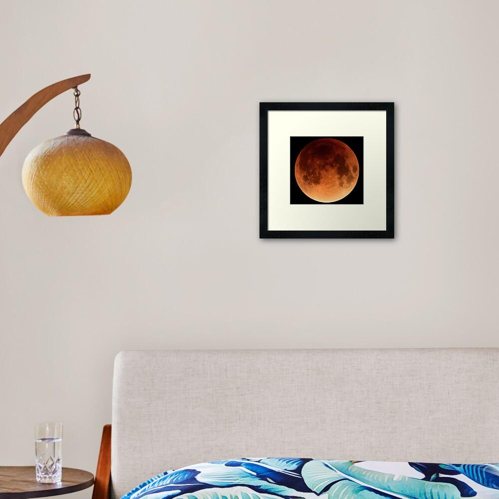 Red Blood Moon Eclipse 2015 Framed Art Print
