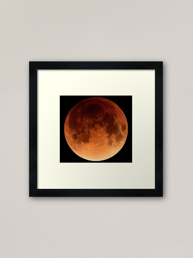 Alternate view of Red Blood Moon Eclipse 2015 Framed Art Print