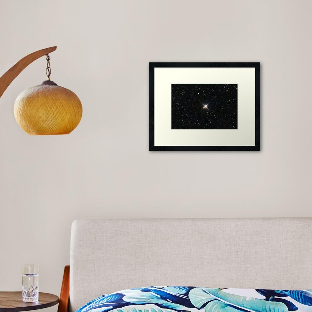 Albireo Double Star Framed Art Print