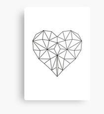 Herz geometrisch Origami Metal Print