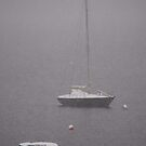 Boats in mist and snow by julie08