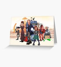 Doctor Who - Series 9 Caricature Greeting Card