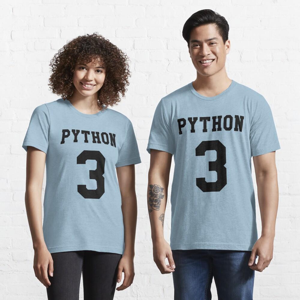 Python 3 - Black College Style Design for Python Programmers Essential T-Shirt