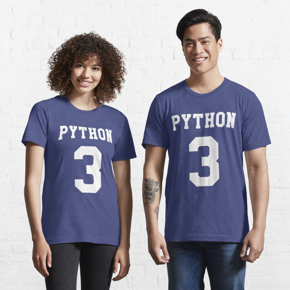 Python 3 - White College Style Design for Python Programmers Essential T-Shirt