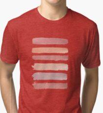 Dusty Rose Stripes Tri-blend T-Shirt