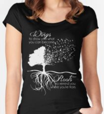 WINGS TO SHOW YOU WHAT YOU CAN BECOME Women's Fitted Scoop T-Shirt