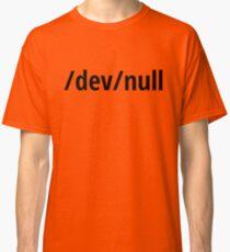 /dev/null - Funny Computer Geek Design - Black Text Classic T-Shirt