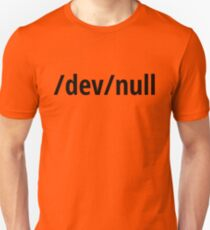 /dev/null - Funny Computer Geek Design - Black Text Unisex T-Shirt