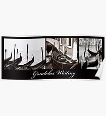 Gondolas Waiting Poster