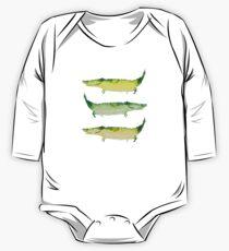 Funny happy green crocodiles Kids Clothes