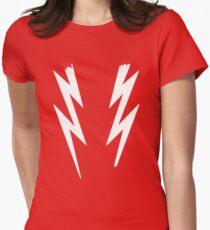 Broken white lightening bolts - Boosh inspired Women's Fitted T-Shirt